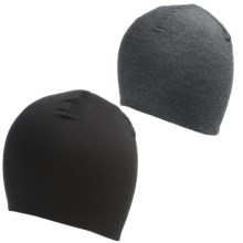 Terramar Thermawool Reversible Beanie Hat - Merino Wool (For Men and Women) in Black - Closeouts
