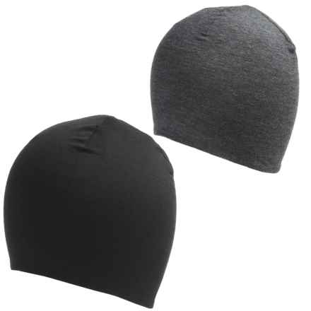Terramar Thermawool Reversible Beanie - Merino Wool (For Men and Women) in Black - Closeouts