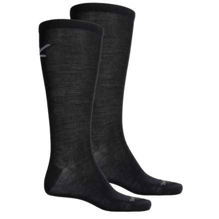 Terramar Thermawool Sock Liner - 2-Pack, Merino Wool, Over the Calf (For Men and Women) in Black - Closeouts