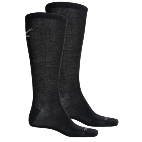 Terramar Thermawool Sock Liner - 2-Pack, Merino Wool, Over the Calf (For Men and Women) in Black