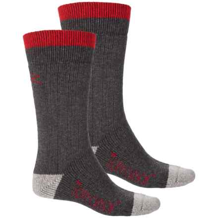 Terramar Thermawool Sub Zero Socks – 2-Pack, Crew (For Men) in Dark Charcoal - Closeouts