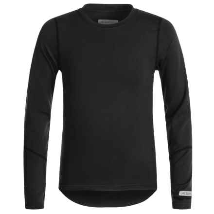 Terramar Thermolater 2.0 ClimaSense® Base Layer Top - UPF 50+, Long Sleeve (For Kids) in Black - Closeouts