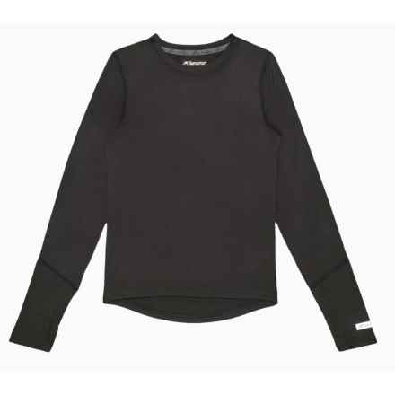 Terramar Thermolator 2.0 Base Layer Top - Long Sleeve (For Little and Big Kids) in Black - Closeouts