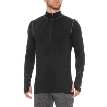Terramar Thermolator 2.0 Base Layer Top - UPF 50+, Zip Neck, Long Sleeve (For Men) in Black - 2nds