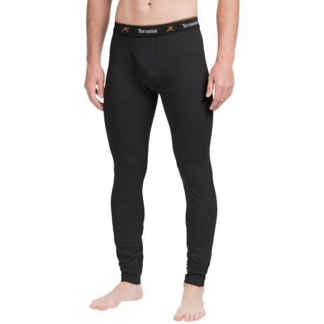 Terramar Thermolator Base Layer Bottoms - Midweight (For Men) in Black