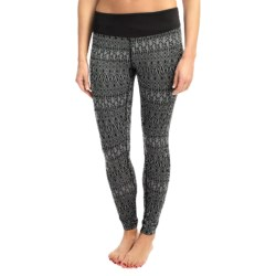 Terramar Thermolator Base Layer Bottoms - UPF 25+ (For Women) in Black Scroll