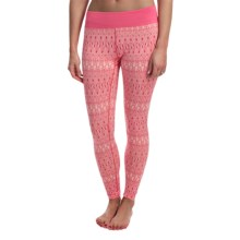 Terramar Thermolator Base Layer Bottoms - UPF 25+ (For Women) in Poppy Scroll - Closeouts