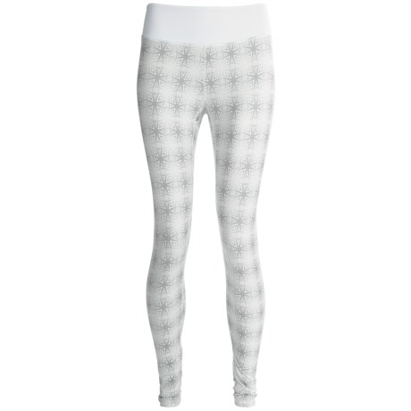 Terramar Thermolator Base Layer Bottoms - UPF 25+ (For Women) in White Kalido