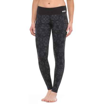 Terramar Thermolator Base Layer Pants - UPF 25+ (For Women) in Black Alpine Print - Closeouts