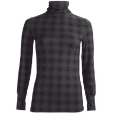 Terramar Thermolator Base Layer Shirred Turtleneck - UPF 25+ (For Women) in Black Print - Closeouts