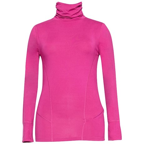 Terramar Thermolator Base Layer Shirred Turtleneck - UPF 25+ (For Women) in Cosmo