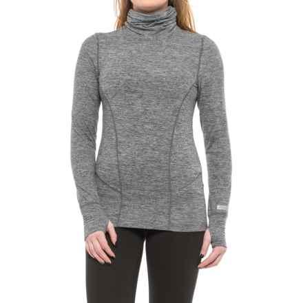 Terramar Thermolator Base Layer Shirred Turtleneck - UPF 25+ (For Women) in Grey Melange - Closeouts
