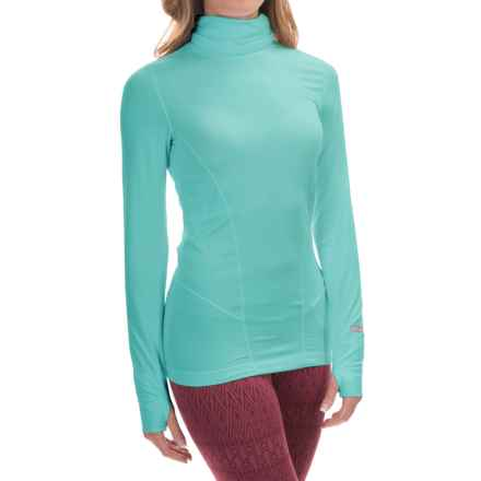 Terramar Thermolator Base Layer Shirred Turtleneck - UPF 25+ (For Women) in Jade - Closeouts