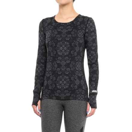 Terramar Thermolator Base Layer Top - UPF 25+, Scoop Neck, Long Sleeve (For Women) in Black Alpine Print - Closeouts