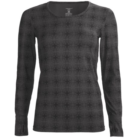 Terramar Thermolator Base Layer Top - UPF 25+, Scoop Neck, Long Sleeve (For Women) in Black Kalido