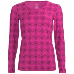 Terramar Thermolator Base Layer Top - UPF 25+, Scoop Neck, Long Sleeve (For Women) in Cosmo Kalido