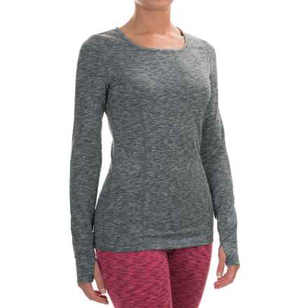 Terramar Thermolator Base Layer Top - UPF 25+, Scoop Neck, Long Sleeve (For Women) in Grey Melange - Closeouts