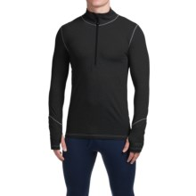 Terramar Thermolator Base Layer Top - Zip Neck, Midweight, Long Sleeve (For Men) in Black - Closeouts