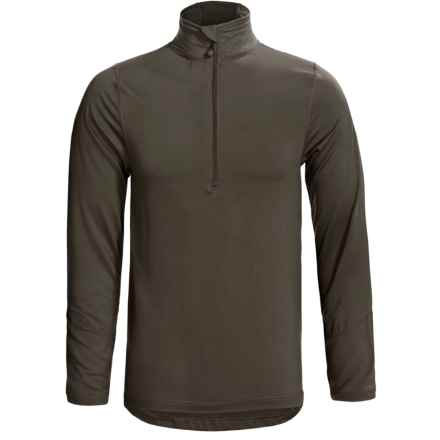 Terramar Thermolator Base Layer Top - Zip Neck, Midweight, Long Sleeve (For Men) in Dark Loden - Closeouts