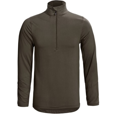 Terramar Thermolator Base Layer Top - Zip Neck, Midweight, Long Sleeve (For Men) in Dark Loden