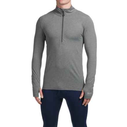 Terramar Thermolator Base Layer Top - Zip Neck, Midweight, Long Sleeve (For Men) in Heather Grey - Closeouts