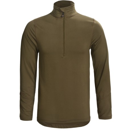 Terramar Thermolator Base Layer Top - Zip Neck, Midweight, Long Sleeve (For Men) in Loden