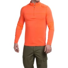 Terramar Tracker Pullover - Zip Neck, Long Sleeve (For Men) in Blaze - Closeouts