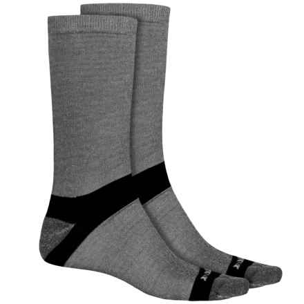Terramar Ultralight CoolMax® Hiker Crew Socks - 2-Pack (For Men and Women) in Grey Heather - Closeouts