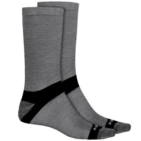 Terramar Ultralight CoolMax® Hiker Crew Socks - 2-Pack (For Men and Women) in Grey Heather