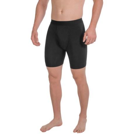 Terramar Underwear Boxer Briefs - Four-Way Stretch (For Men) in Black