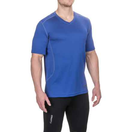 Terramar V-Neck T-Shirt - UPF 50+, Short Sleeve (For Men) in Indigo - Closeouts