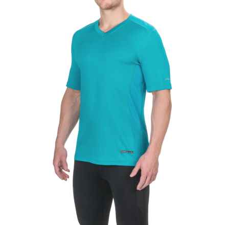 Terramar V-Neck T-Shirt - UPF 50+, Short Sleeve (For Men) in Lagoon - Closeouts