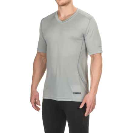 Terramar V-Neck T-Shirt - UPF 50+, Short Sleeve (For Men) in Neutral Grey - Closeouts