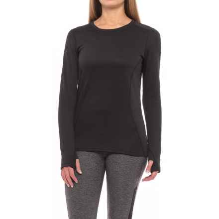 Terramar Vertix Base Layer Crew Top - UPF 50, Long Sleeve (For Women) in Black - Closeouts