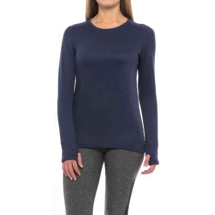 Terramar Vertix Base Layer Crew Top - UPF 50, Long Sleeve (For Women) in Ink Melange - Closeouts