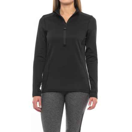 Terramar Vertix Base Layer Top - Zip Neck, Long Sleeve (For Women) in Black - Closeouts