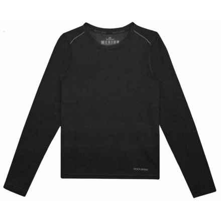 Terramar Woolskins Base Layer Top - Merino Wool, Long Sleeve (For Kids) in Black Heather - Closeouts