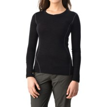 Terramar Woolskins Merino Wool V-Neck Shirt - Long Sleeve (For Women) in Black - Closeouts