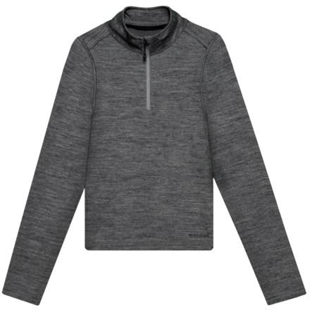 3347d833f28 Terramar Woolskins Zip Neck Base Layer Top - Merino Wool, Long Sleeve (For  Kids