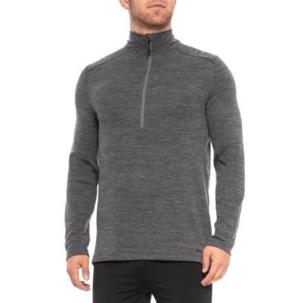 41aa5815 Terramar Woolskins Zip Neck Base Layer Top - Merino Wool, Long Sleeve (For  Men