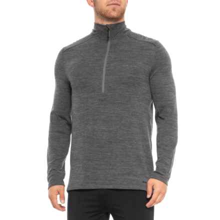 Terramar Woolskins Zip Neck Base Layer Top - Merino Wool, Long Sleeve (For Men) in Charcoal Heather - Closeouts