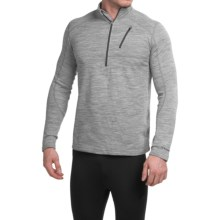 Terramar Woolskins Zip Neck Base Layer Top - UPF 50+, Long Sleeve (For Men) in Grey - Closeouts