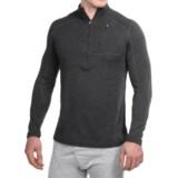 Terramar Woolskins Zip Neck Base Layer Top - UPF 50+, Long Sleeve (For Men)