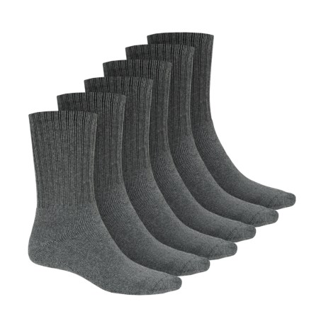 Terramar Work & Sport Socks - 6-Pack, Crew (For Men)