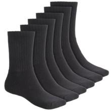 Terramar Work & Sport Socks - Midweight, 6-Pack (For Men) in Black - Closeouts