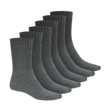 Terramar Work & Sport Socks - Midweight, 6-Pack (For Men) in Grey Heather - Closeouts
