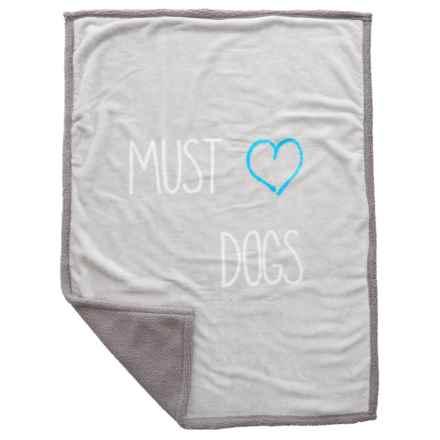 """Territory Modern """"Must Love Dogs"""" Pet Fleece Blanket- 30x40"""" in Multi - Closeouts"""