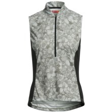 Terry Breakaway Mesh Cycling Jersey - Zip Neck, Sleeveless (For Women) in Flower Field/Dove Grey - Closeouts