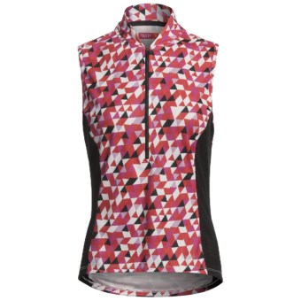 Terry Breakaway Mesh Cycling Jersey - Zip Neck, Sleeveless (For Women) in Valkyrie