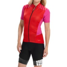Terry Echelon Cycling Jersey - Short Sleeve (For Women) in Hot Pink - Closeouts